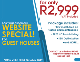 Website Special for Guest Houses | Kenhardt Accommodation, Business & Tourism Portal